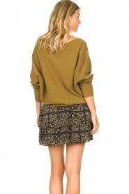 Aaiko |  Print skirt Trix | black  | Picture 6