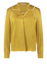 Aaiko |  Satin blouse Valera | yellow  | Picture 1