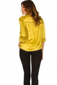 Aaiko |  Satin blouse Valera | yellow  | Picture 6