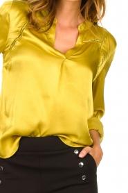 Aaiko |  Satin blouse Valera | yellow  | Picture 7