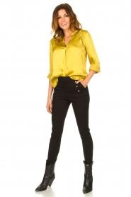 Aaiko |  Satin blouse Valera | yellow  | Picture 3