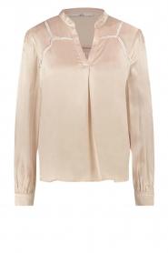 Aaiko |  Satin blouse Valera | pink  | Picture 1