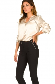 Aaiko |  Satin blouse Valera | pink  | Picture 4
