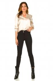 Aaiko |  Satin blouse Valera | pink  | Picture 3