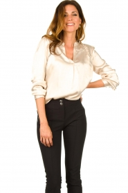 Aaiko |  Satin blouse Valera | pink  | Picture 2