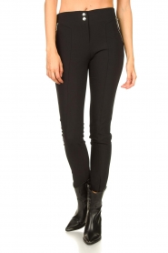Aaiko |  Tights with zippers Tamara | black  | Picture 4
