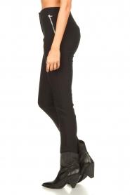 Aaiko |  Tights with zippers Tamara | black  | Picture 5