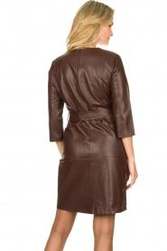 Aaiko |  Faux leather dress Shyla | brown  | Picture 6