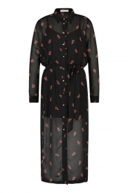Freebird |  Dress with print Helen | black  | Picture 1