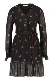 Freebird |  Dress with print Izabel | black  | Picture 1
