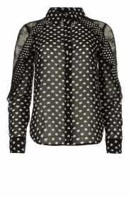 Fracomina |  Blouse with volant details Heart It | black  | Picture 1