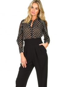 Fracomina |  Blouse with volant details Heart It | black  | Picture 2