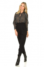 Fracomina |  Blouse with volant details Heart It | black  | Picture 3