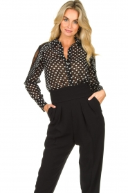 Fracomina |  Blouse with volant details Heart It | black  | Picture 4