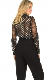 Fracomina |  Blouse with volant details Heart It | black  | Picture 6