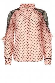 Fracomina |  Blouse with volant details Heart It | Pink  | Picture 1