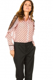 Fracomina |  Blouse with volant details Heart It | Pink  | Picture 2