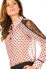 Fracomina |  Blouse with volant details Heart It | Pink  | Picture 7