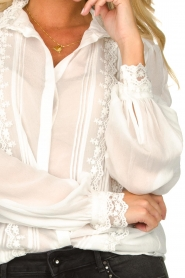 Fracomina |  Blouse with laced details Venice | white  | Picture 5