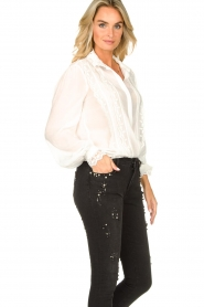Fracomina    Blouse with laced details Venice   white    Picture 6