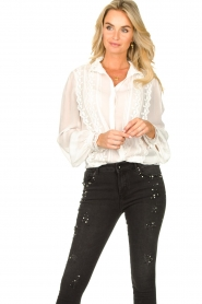 Fracomina    Blouse with laced details Venice   white    Picture 4