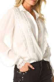 Fracomina |  Blouse with laced details Venice | white  | Picture 9