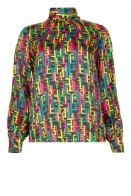 Fracomina |  Printed blouse Logo | multi  | Picture 1