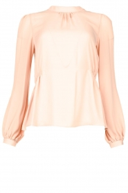 Fracomina |  Top with puff sleeves Misty | nude  | Picture 1
