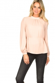 Fracomina |  Top with puff sleeves Misty | nude  | Picture 2
