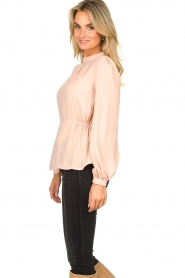 Fracomina |  Top with puff sleeves Misty | nude  | Picture 5