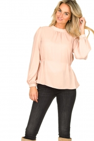 Fracomina |  Top with puff sleeves Misty | nude  | Picture 4