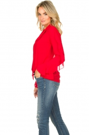 Fracomina |  Blouse with ruffles Vela | red  | Picture 6