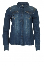 Fracomina |  Denim blouse with beads Broste | blue  | Picture 1