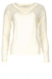 Fracomina |  V-neck sweater Clemente | white  | Picture 1