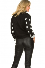 Fracomina |  Turtleneck sweater with dots Pop Up | black  | Picture 6