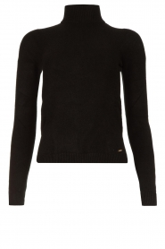 Fracomina |  Turtleneck sweater Ezra | black  | Picture 1
