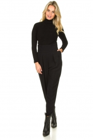 Fracomina |  Turtleneck sweater Ezra | black  | Picture 3