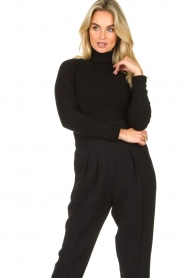 Fracomina |  Turtleneck sweater Ezra | black  | Picture 4