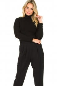 Fracomina |  Turtleneck sweater Ezra | black  | Picture 2