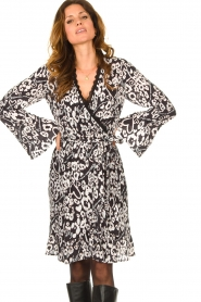 Fracomina |  Leopard printed dress Hollow | black  | Picture 4