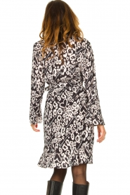 Fracomina |  Leopard printed dress Hollow | black  | Picture 7