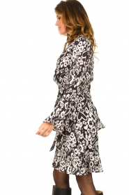 Fracomina |  Leopard printed dress Hollow | black  | Picture 6