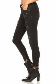 Fracomina |  Jeans with beads and stones Haudrey | black  | Picture 5