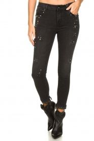 Fracomina |  Jeans with beads and stones Haudrey | black  | Picture 4