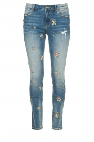 Fracomina |  Jeans with embroidered beads Mary | blue  | Picture 1