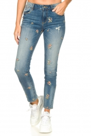 Fracomina |  Jeans with embroidered beads Mary | blue  | Picture 4