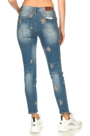 Fracomina |  Jeans with embroidered beads Mary | blue  | Picture 7