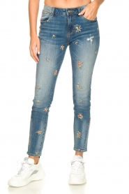 Fracomina |  Jeans with embroidered beads Mary | blue  | Picture 5