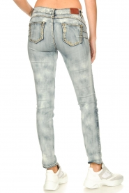 Fracomina |  Jeans with sparkles and beads Tina | grey  | Picture 6