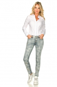 Fracomina |  Jeans with sparkles and beads Tina | grey  | Picture 3